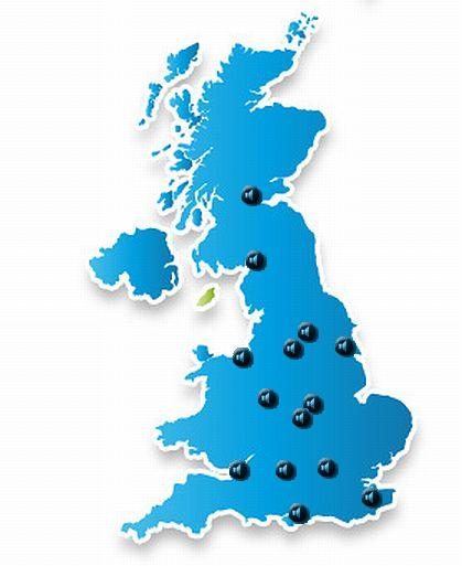 Map of UK samples